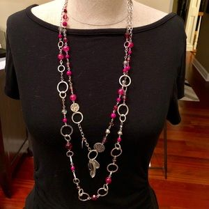 Double layer WHBM long necklace